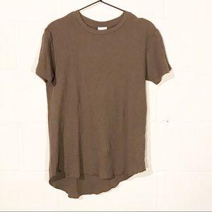 Zara Waffle Thermal Asymmetrical T Shirt